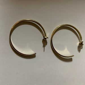 GLDN brand 14k gold plated hoops.
